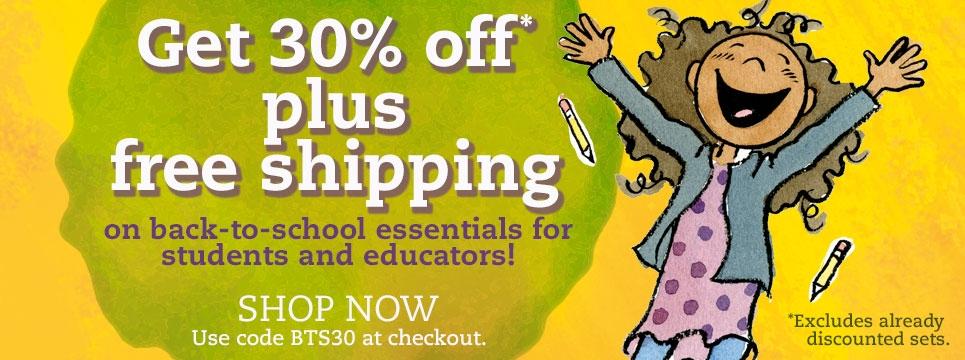 Save 30% on back-to-school essentials!