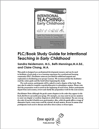 Intentional Teaching in Early Childhood PLC/Book Study Guide