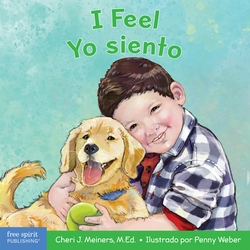 A bilingual English-Spanish board book about recognizing and understanding emotions